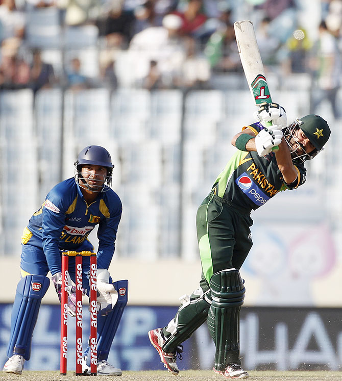 Pakistan's Fawad Alam in action against Sri Lanka on Saturday.