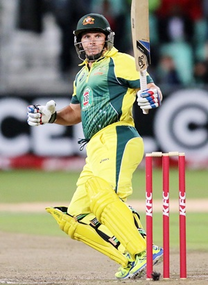 Rediff Cricket - Indian cricket - Blazing Hodge leads Australia to victory in rain-reduced game
