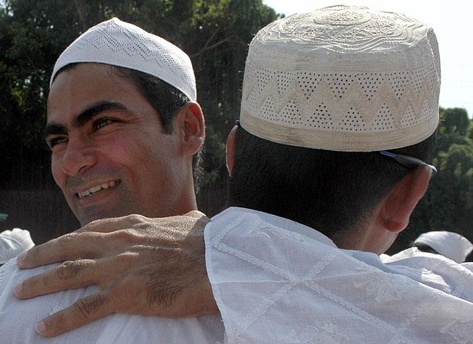 Mohammad Kaif, left.