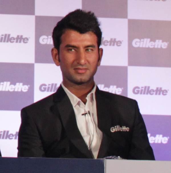 Cheteshwar Pujara at the launch of Gillette's first ever special edition India razors in Mumbai on friday