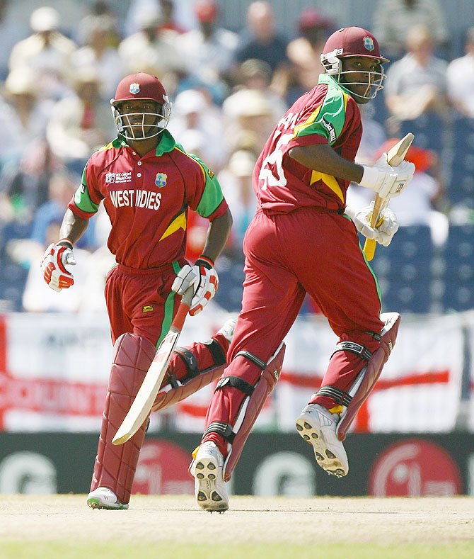 Chris Gayle (right) and Devon Smith