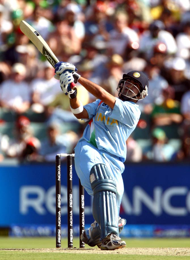 Gautam Gambhir during the 2007 Twenty20 final against Pakistan.