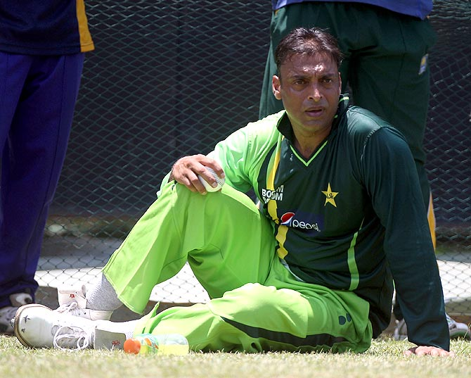 Shoaib Akhtar of Pakistan