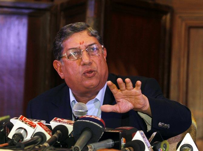 Former BCCI chief N Srinivasan