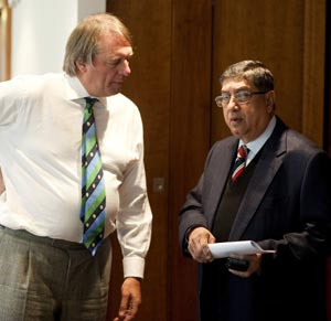 Will Srinivasan be allowed to take over as ICC chairman?