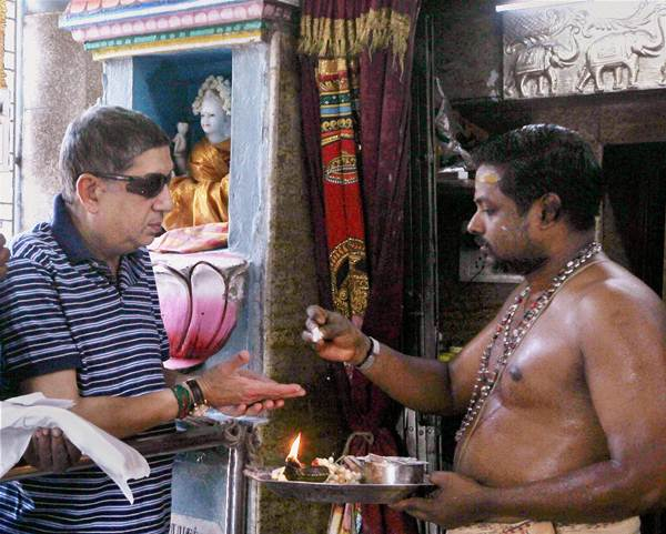 First look: Srinivasan seeks divine help in Chennai