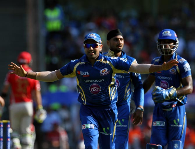 PHOTOS: Mumbai Indians down Punjab for first win in IPL 7