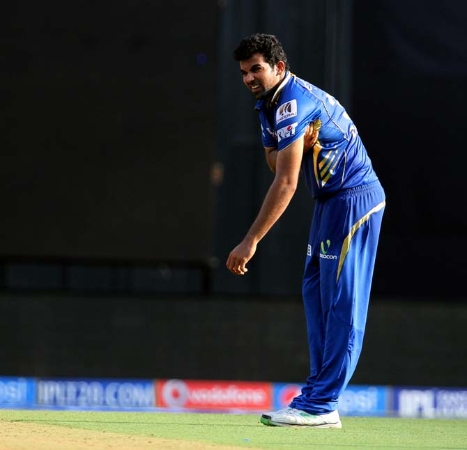 Injured Zaheer unlikely to play against Bangalore, says Wright