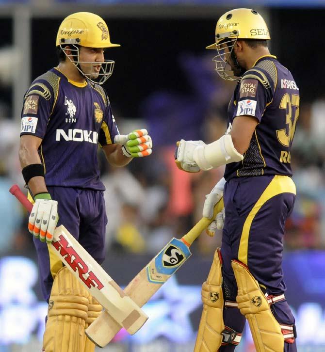 Gautam Gambhir (left) with Robin Uthappa