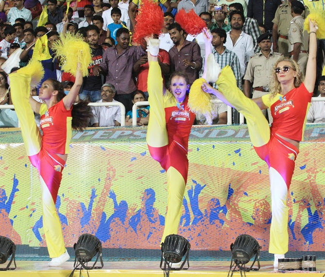 Cheerleaders of Chennai Super Kings
