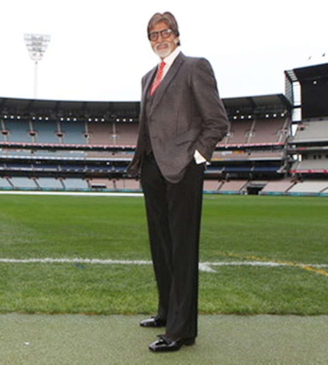 Amitabh Bachchan at the MCG