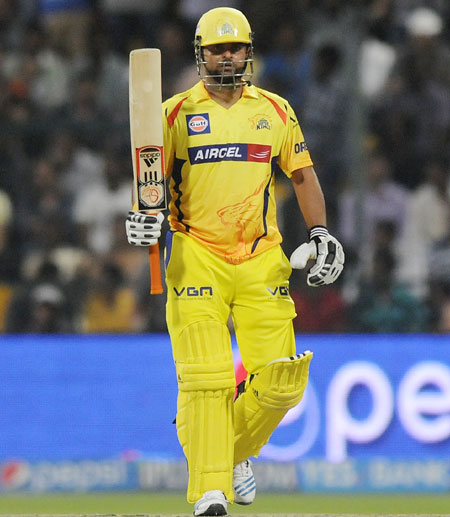 Raina is first batsman to amass 3,000 runs in IPL