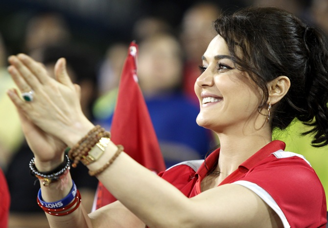 Preity Zinta looks pleased with the performance