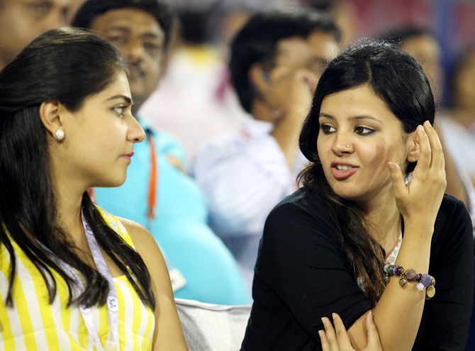 Sakshi Dhoni with a friend