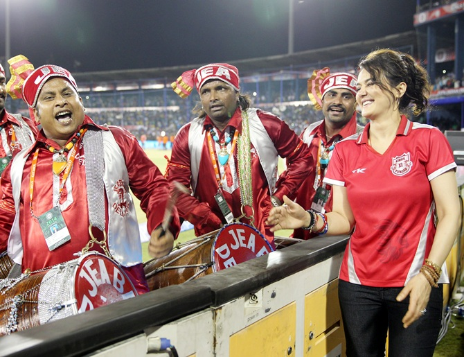 Preity Zinta with fans