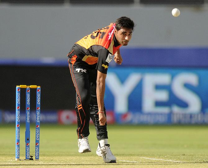 Bhuvneshwar Kumar bowls