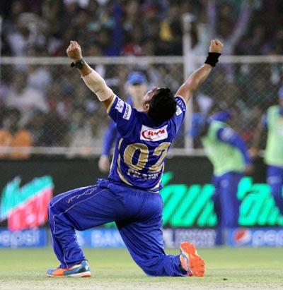Tambe's hat-trick gives Rajasthan stunning win over Kolkata