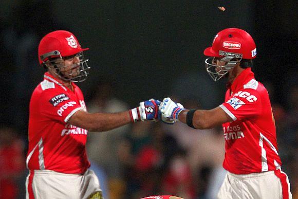 Virender Sehwag and Mandeep Singh