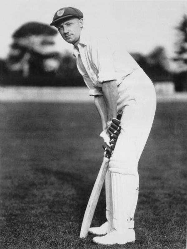 The late Sir Don Bradman pictured in March 1938.