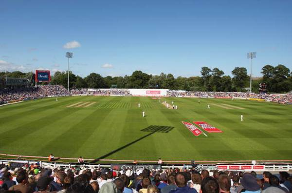 A general view of the SWALEC stadium in Cardiff, Wales.