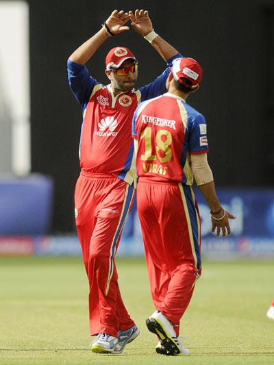 Yuvaj Singh and Virat Kohli
