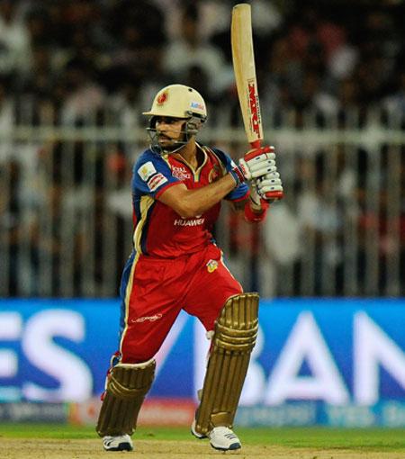 Royals Challengers Bangalore captain Virat Kohli hits a shot