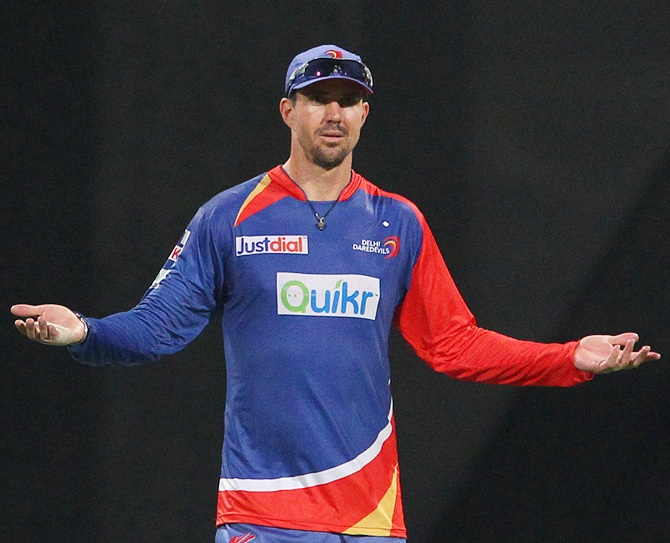 Kevin Pietersen reacts