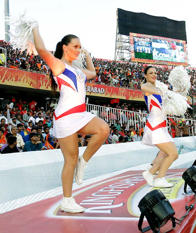 Cheerleaders of Kings XI Punjab.