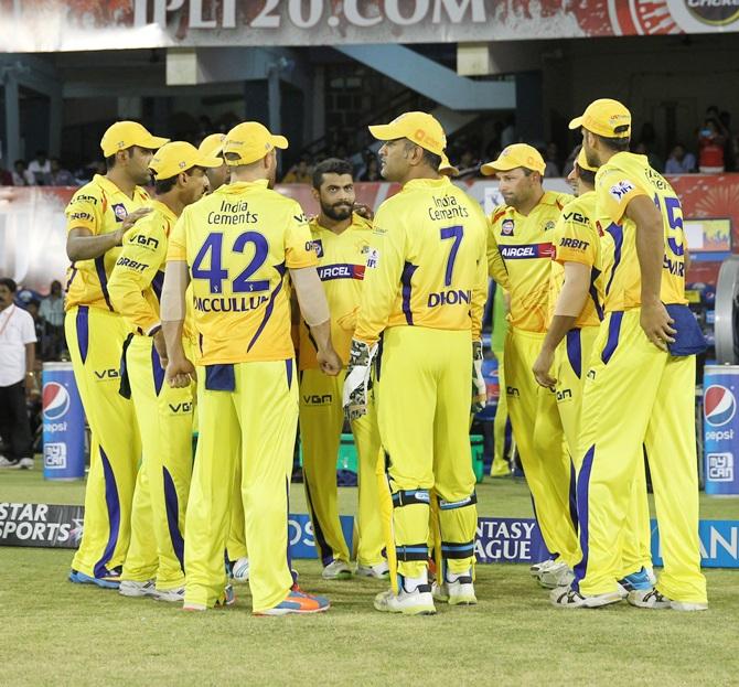 Chennai Super Kings players