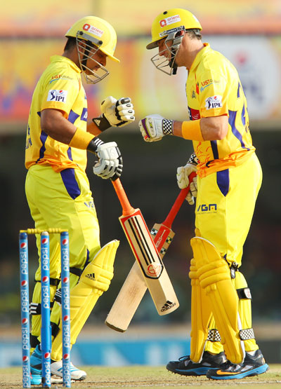 Suresh Raina and David Hussey