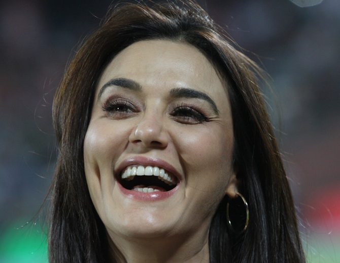 Preity Zinta is all smiles
