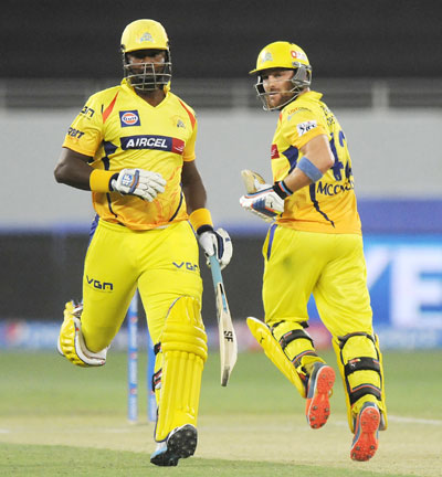 Chennai Super Kings opening pair of Dwayne Smith and Brendon McCullum