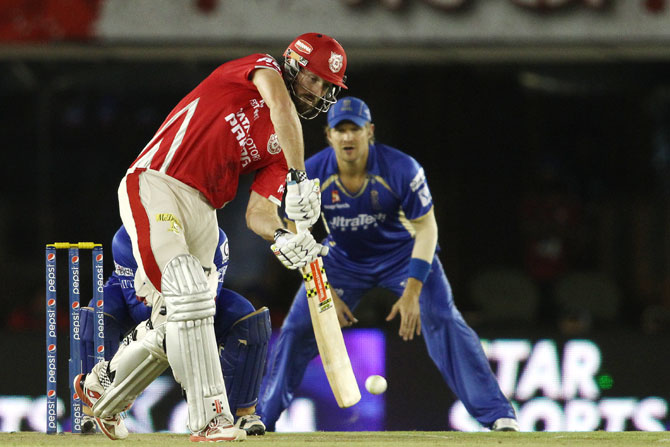 Shaun Marsh of Kings XI Punjab plays a shot