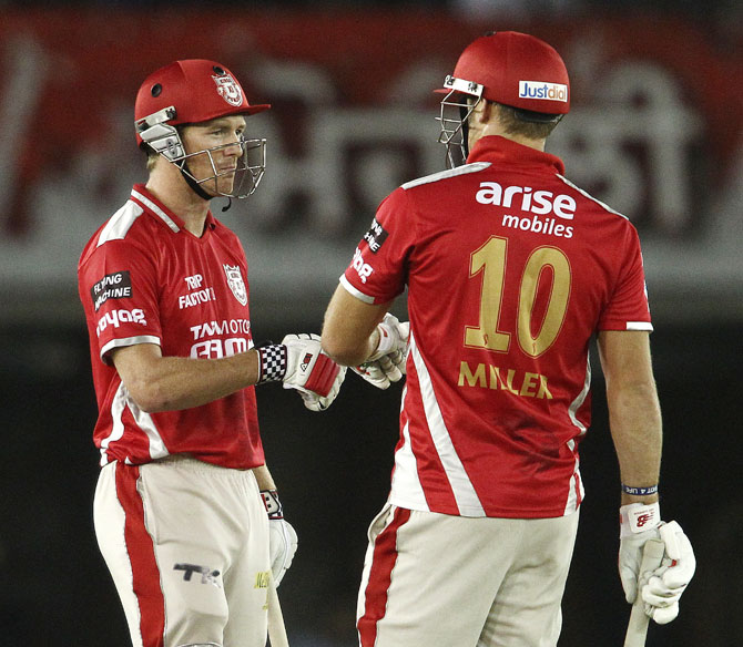 Kings XI Punjab captain George Bailey with David Miller