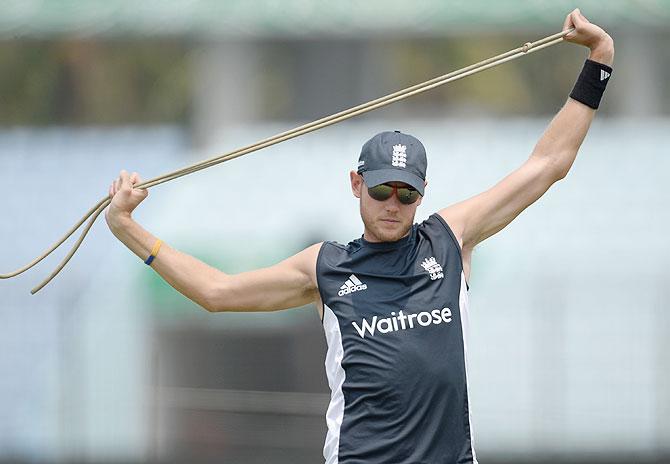 England captain Stuart Broad