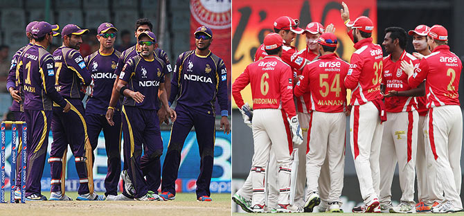 KKR and Kings XI Punjab