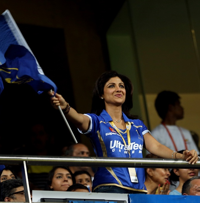 Shilpa Shetty at the Wankhede on Sunday.