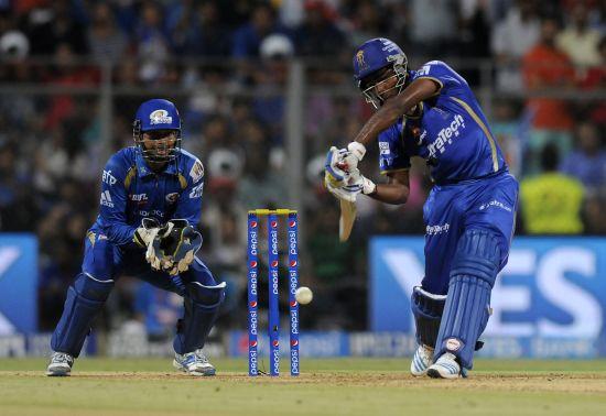 Sanju Samson hits a six