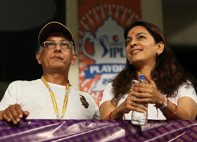 Juhi Chawla with Jay Mehta