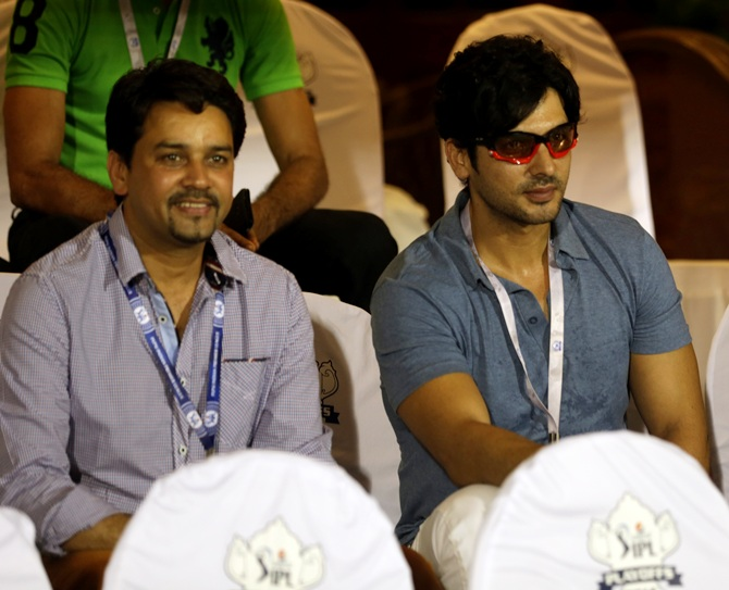 Anurag Thakur with Zayed Khan