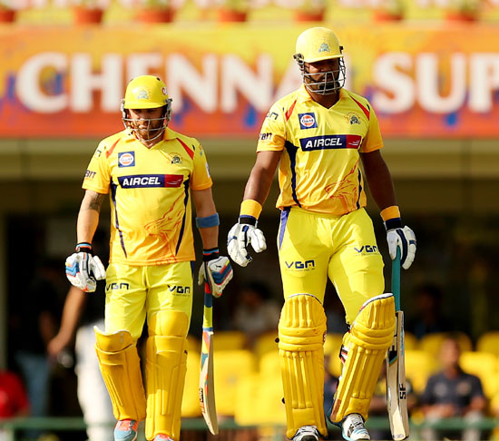 Brendon McCullum and Dwayne Smith of Chennai Super Kings