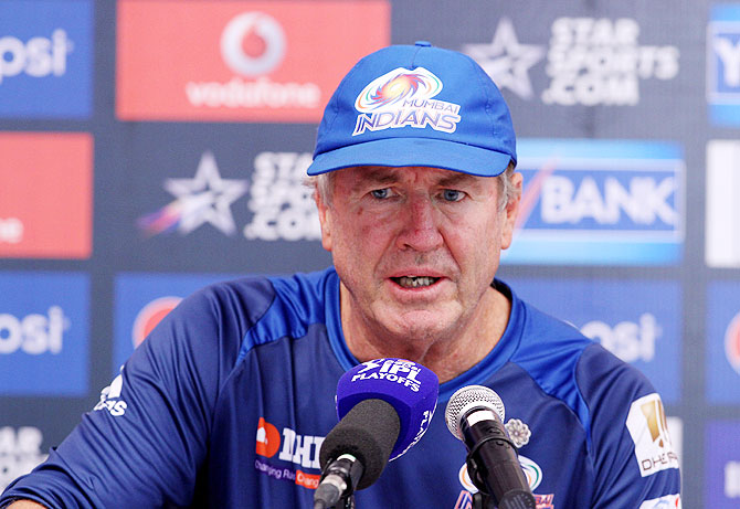 Mumbai Indians coach John Wright