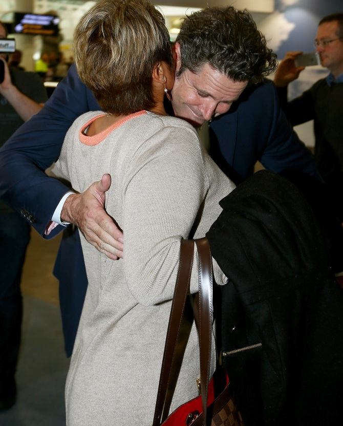 Chris Cairns arrives at Auckland Airport