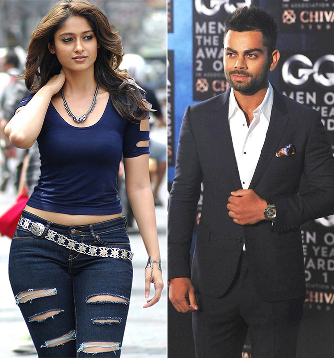 Ileana D'Cruz and Virat Kohli