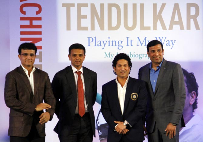 Sourav Ganguly, Rahul Dravid, Sachin Tendulkar and V V S Laxman, amazing cricketers all!