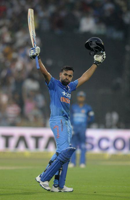 Congratulate Rohit Sharma On His World Record 264 Rediffcom Cricket