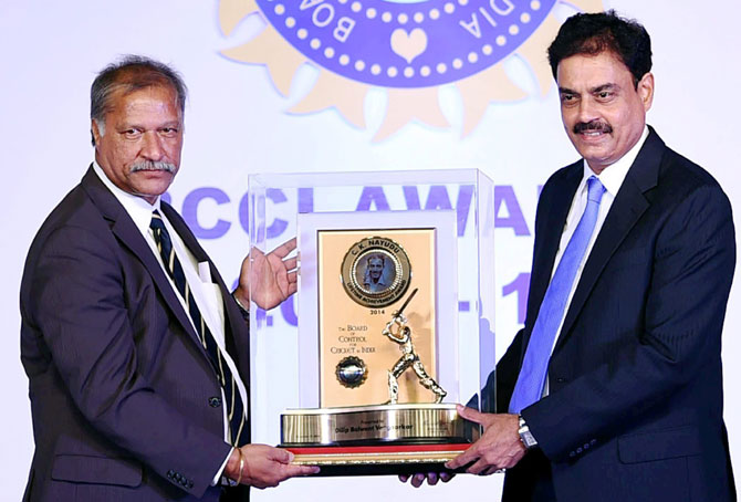 Rediff Cricket - Indian cricket - BCCI awards: Vengsarkar, Bhuvneshwar and Rohit Sharma honoured