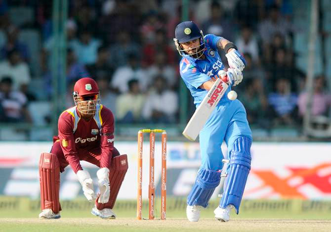 Rediff Cricket - Indian cricket - Rankings: In-form Kohli displaces Amla to go 2nd; Bhuvneshwar breaks into top 10