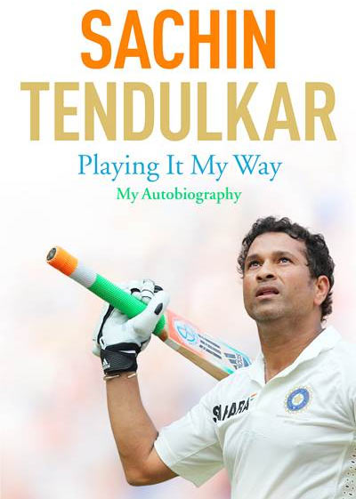 The jacket of the book, Playing It My Way – My Autobiography