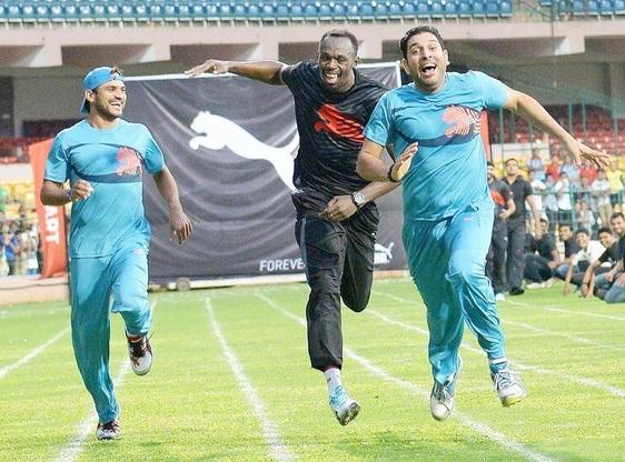 Yuvraj Singh, Usain Bolt